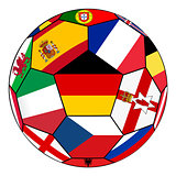 Ball with flag of German in the center