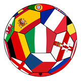 Ball with flag of  Italy in the center