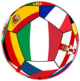 Ball with flag of  Italy in the center - vector