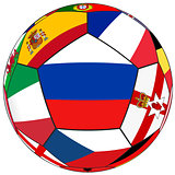 Ball with flag of Russia in the center - vector