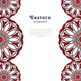 Vector design with circle ornament in eastern style.