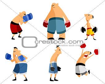 Six boxers set