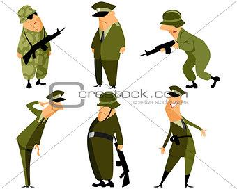 Six military set