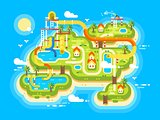 Aquapark plan flat