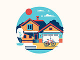 House icon isolated flat