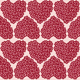 Seamless texture with floral hearts