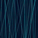 Cyan neon abstract lines on dark background