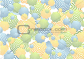 Bright abstract rings background