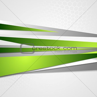 Abstract green grey corporate vector design