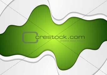 Bright green wavy corporate abstract background