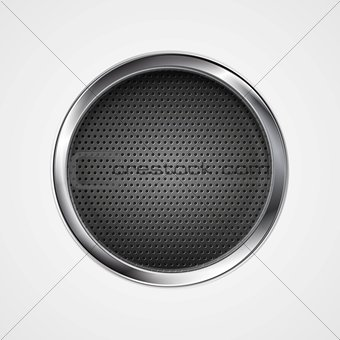 Abstract metal perforated circle background