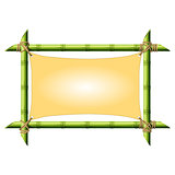 Bamboo frame with stretched canvas isolated on white