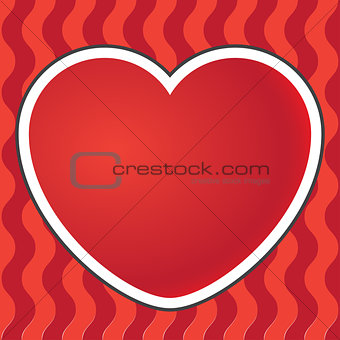Postcard heart background. Vector illustration