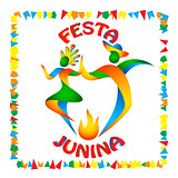 Festa Junina dancers man and woman