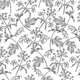 Seamless abstract hand-drawn waves pattern. Gorgeous  floral background
