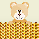 Teddy bear and bee background