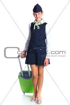 Charming Girl Stewardess