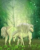 White Unicorn Family