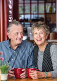 Mature Couple in Coffee House