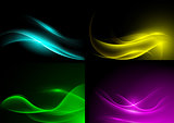 Light Wave Color Background Set