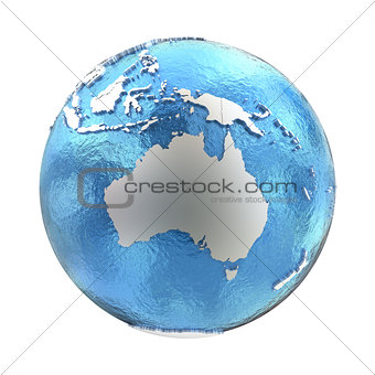 Australia on silver Earth