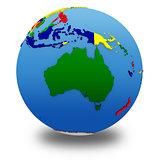 Australia on political model of Earth