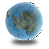 Antarctica on marble planet Earth