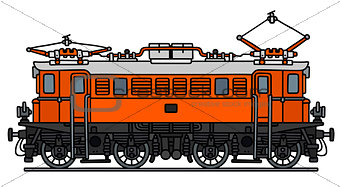Old electric locomotive