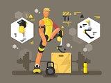 Sport prostheses design flat