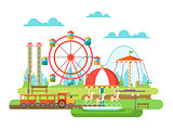 Amusement park flat design