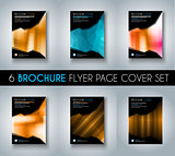 Set of Brochure templates, Flyer Designs or Depliant Covers for business presentation