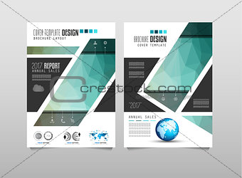 Brochure template, Flyer Design or Depliant Cover for business presentation