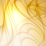 Yellow abstract background with curves lines.