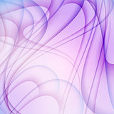 Violet abstract background with curves lines.