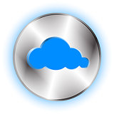 Cloud futuristic icon. Technological background