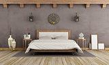 Vintage brown bedroom