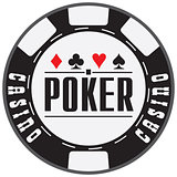 Black casino chips for Poker