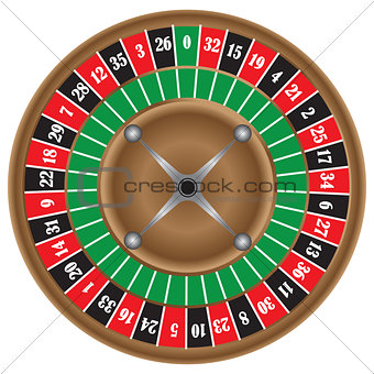 Classic game of roulette wheel