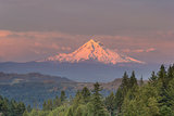 Mount Hood Alpenglow Sunset