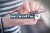 Web search bar glossary term - smartphone addiction