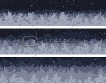 forest and mountains set
