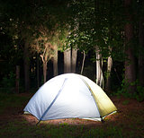 Dark campsite