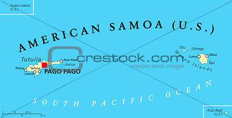 American Samoa Political Map