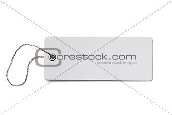 Blank cardboard price tag or label isolated