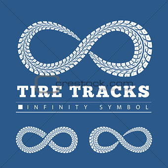 Tire Tracks in Infinity Form