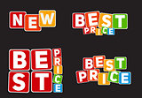 New, Best Price Sign Template Vector Illustration