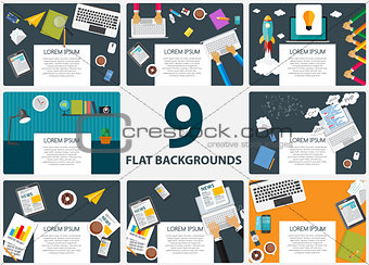 Abstract Backgrounds on Business Theme with Empty Place for Your