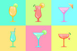 Set of cocktail icons