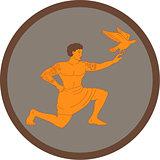 Tagaloa Releasing Plover Bird Circle Retro