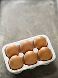 rustic chicken egg